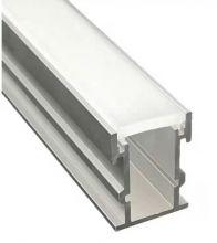 Perfil De Alumínio Para Embutir Solo Alto Com Difusor 21*26mm K632-2126