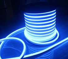 Fita Led Neon Rolo 100m 16*8 127v Azul Ciano KLFT-NEON127V/AZ-2